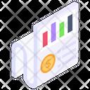 Data Analytics Infographic Report Statistics Icon