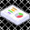 Data Analytics Infographic Sheet Statistics Report Icon