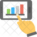 Mobile Infographics Analytics Icon