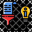Information Data Analytics Icon