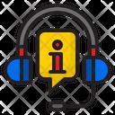 Info Call Headphone Icon