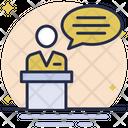 Information Desk Speech Desk Desk Icon