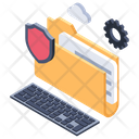 Information Security Data Privacy Data Protection Icon