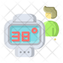 Coronavirus Infrared Thermometer Icon