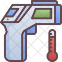 Infrared Thermometer Temperature Icon