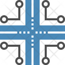 Infrastructure Communication Routing Icon