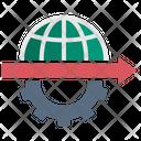 Infrastructure Globalization Development Icon