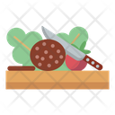 Chopping Board Ingredients Knife Icon