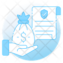 Inheritance Law Money Bag Litigation Icon