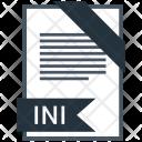 Ini Format Document Icon