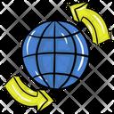 Round The World Worldwide Global Icon