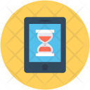 Initializing Screen Hourglass Icon