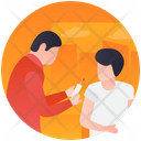 Injecting Patient Muscle Injection Patient Treatment Icon