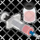 Injection Syringe Immunization Icon
