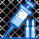 Injection Syringe Injecting Icon