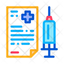 Injection Medical Report Icon