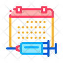 Injection Schedule Vaccination Icon
