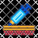 Injection Syringe Under Icon