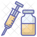 Injection With Bottle Icon