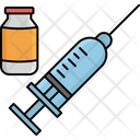 Injection With Vaccine Icon