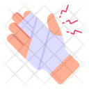 Hand Fracture Bandage Injured Hand Icon