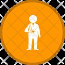 Injured Man Fracture Icon