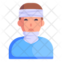Patient Injured Person Traumatic Brain Icon