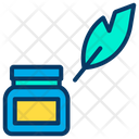Ink Pot Feather Tool Icon