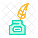 Ink Feather Color Icon