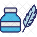 Inkwell Ink Feather Icon