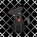 Happy Begging Dog Icon