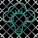 Idea Lamp Cloud Icon