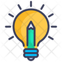 Bulb Creative Pencil Icon