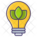 Electricity Green Leaf Icon