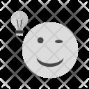 Lightbulb Emoji Face Icon