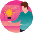 Innovative Person Creative Person Intelligent Person Icon