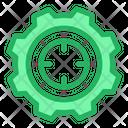 Target Goal Cog Wheel Icon