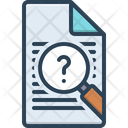 Inquiry Inspection Survey Icon