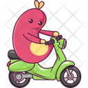 Insect Driving Scooter Icon