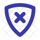 Insecure Unsafe Shield Icon