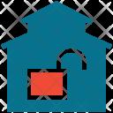 Home Building Lock Icon