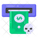 Insecure Atm Insecure Withdraw Malicious Atm Icon
