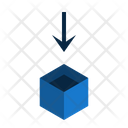 Insert Down Box Icon