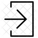 Insert In Right Arrow Icon