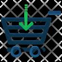 Arrow Down Shopping Icon