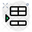Insert Row Below Interface Essentials Table Green F Icon