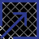 Arrow Inside In Icon