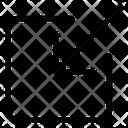 Inside Arrow Arrow In Up Left Down Icon