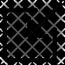 Inside Arrow Icon