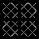 Inside Horizontal Border Interface Essentials Table Regular F Icon